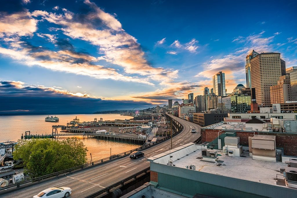 A view of downtown Seattle