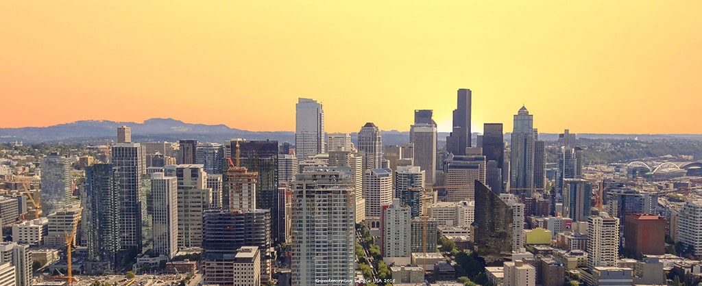 The Seattle skyline at dawn